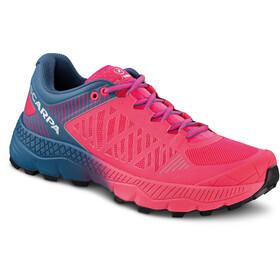 Scarpa Spin Ultra Trail Running Shoes Women rose fluo-blue steel